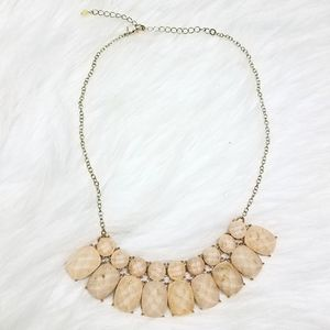 Gold Fleck Champagne Colored Statement Necklace